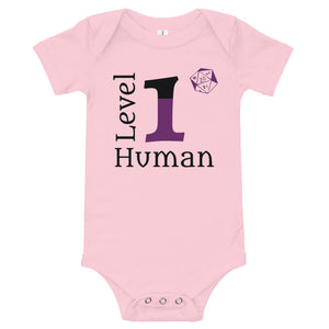 Level 1 Human D&D Baby Jersey Bodysuit