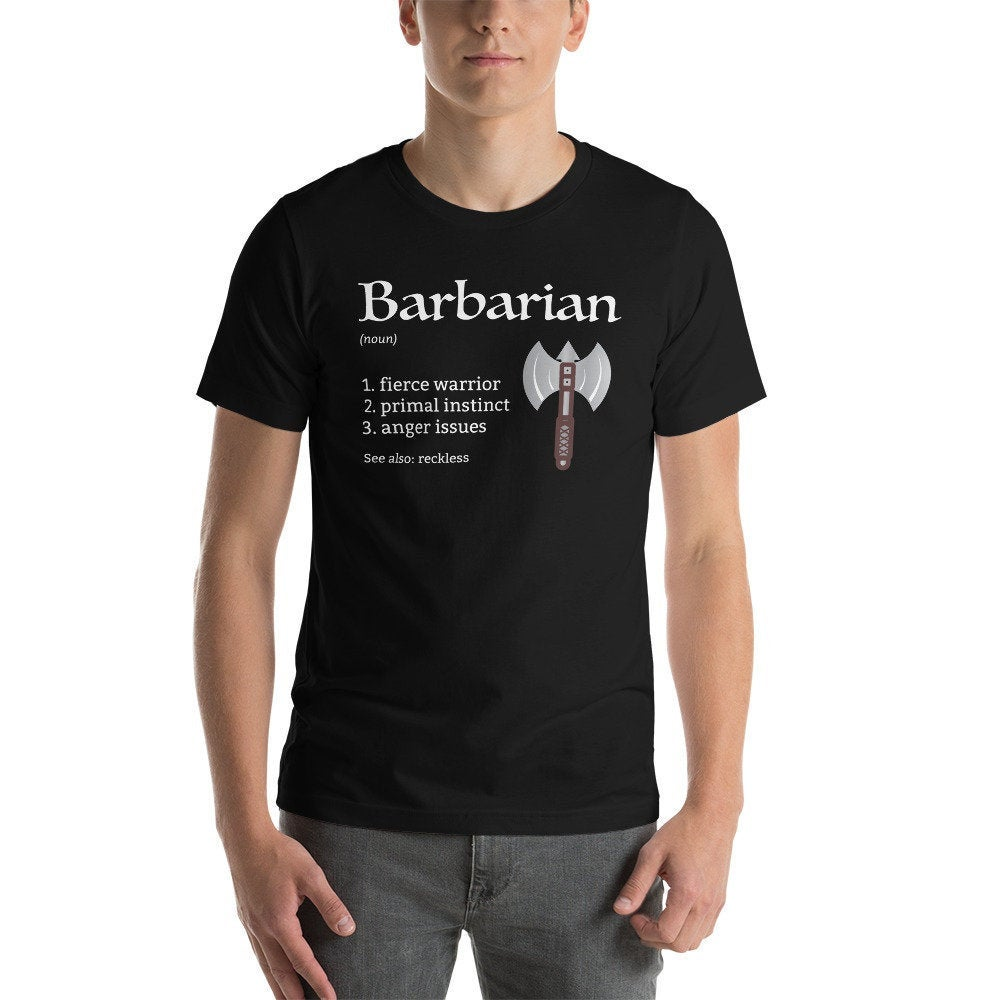 D&D Barbarian Class Unisex T-Shirt | Dungeons and Dragons Tabletop RPG Patfinder