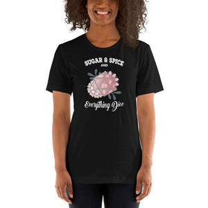 D&D Shirt Sugar and Spice and Everything Dice | Dungeons and Dragons Tee