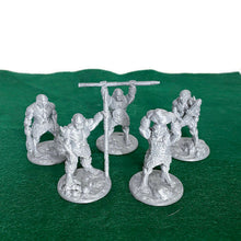 Load image into Gallery viewer, 5 piece Ogre Warband 28mm Scale D&D Monster Miniatures for Dungeons and Dragons Terrain