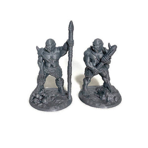 5 piece Ogre Warband 28mm Scale D&D Monster Miniatures for Dungeons and Dragons Terrain
