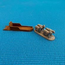 Load image into Gallery viewer, D&D Sled Dogs and Sled 28mm Scale Miniature Set | Dnd Miniatures | Dungeons and Dragons Winter Terrain Miniatures