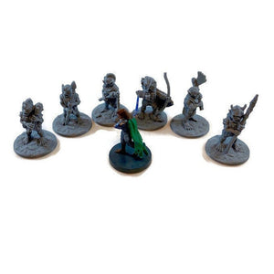 6 piece Goblin Horde 28mm Scale Monster Miniatures for D&D Terrain | Dungeons and Dragons Pathfinder Tabletop RPG