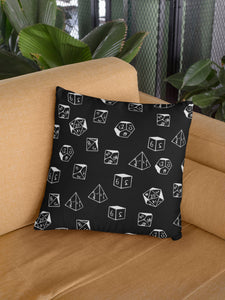 D&D Dice Pattern Polyester Square Pillow