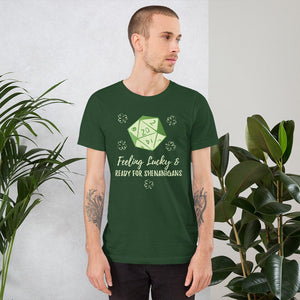 D&D St. Patrick's Day Shirt Feeling Lucky and Ready for Shenanigans