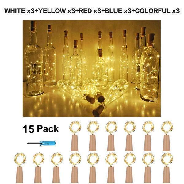 【❤Life if about Little Happiness❤】 Bottle String LIGHTS -Easy steps! 10000 units has been sold!!