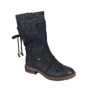 Winter Warm Back Lace Up Boots