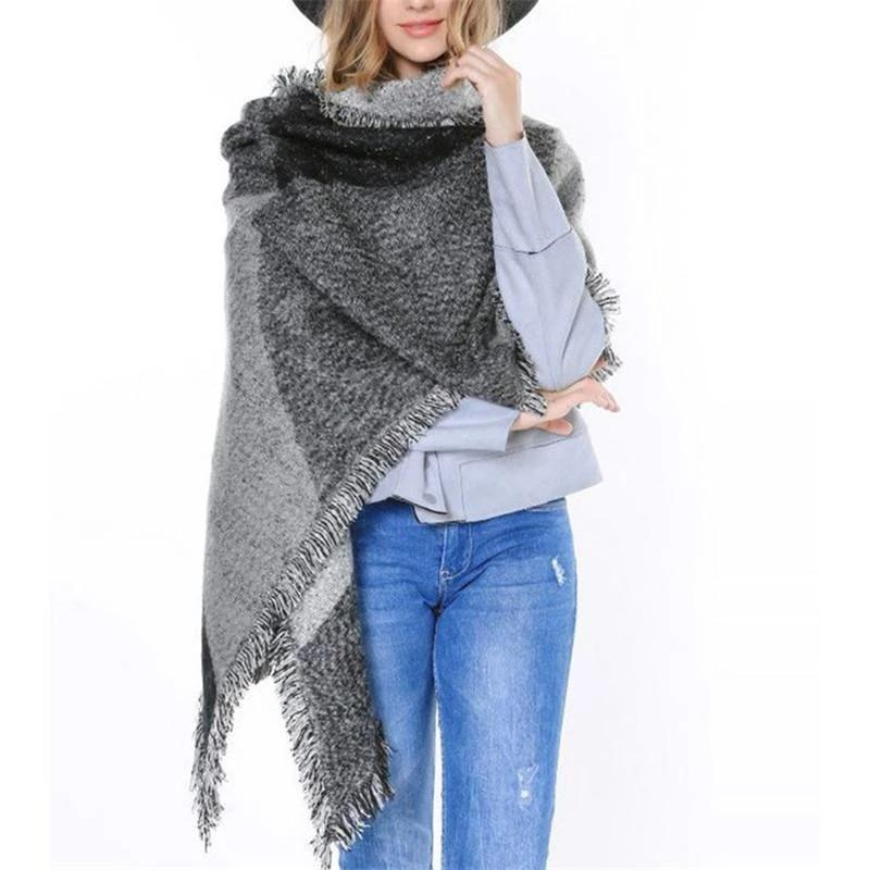 Hot Wool Grid Scarf