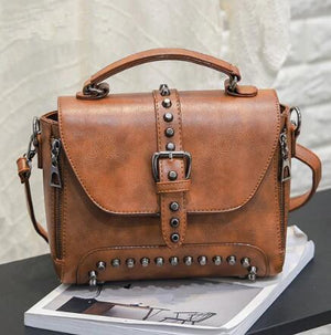 Vintage Stud Leather Handbag