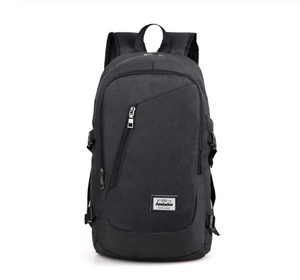 Fashion Men Laptop Backpack USB Charging Casual Style Large Business Travel Bag