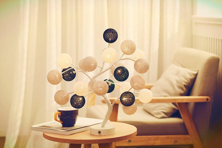 Hand-made Cotton Thread Home Decoration Lights Battery&USB