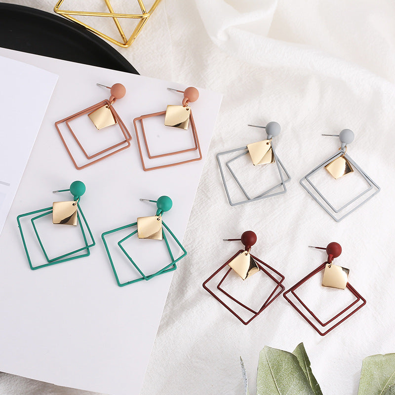 Cool Square Earrings