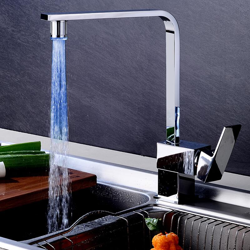LED home automatic color faucet