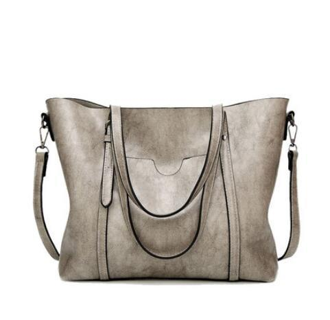 Women Oil Waxed Leather Handbag