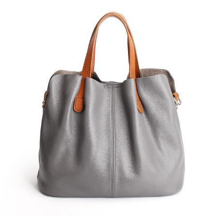 Two In One Leather Shopper Tote Bag (2019)