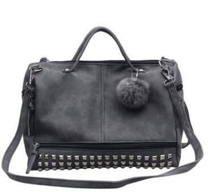 Women's Handle - Bags with Rivets Vintage Motorcycle Bags sac