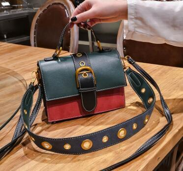women's color portable shoulder bag leather bag pouch
