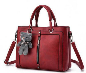 Totes Zipper Bear Strap Yarn Office Shopping Crossbody Shoulder Bag