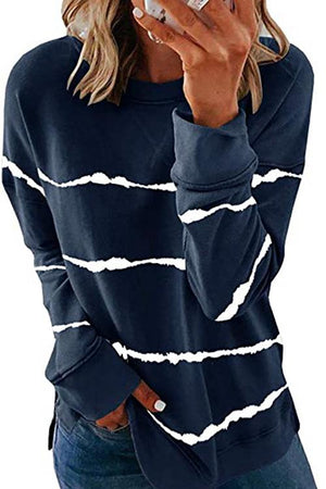 Stripe Long Sleeve Sweatshirt