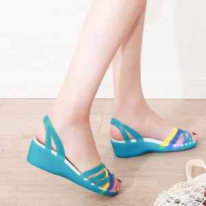 Women Rainbow Colors Casual Sandals