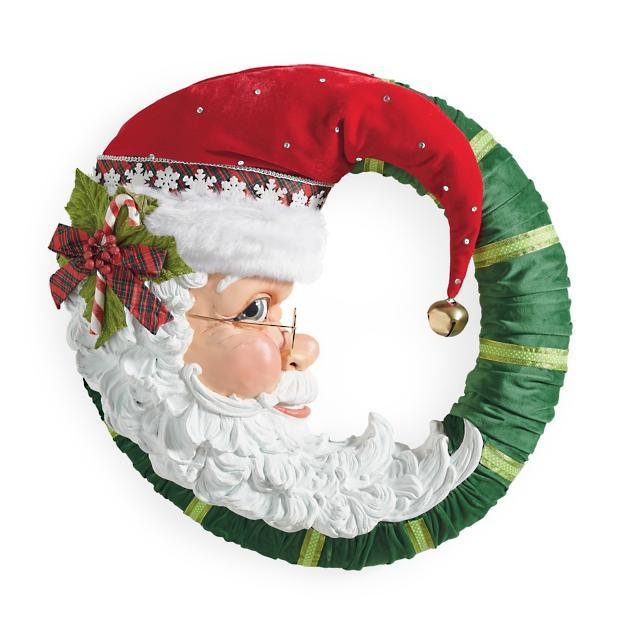Jolly Santa Wreath