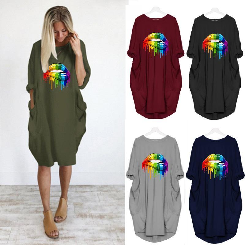 Multicolor Style Pocket Casual Dress