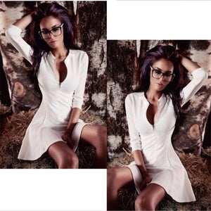 V-Neck Slim Dress
