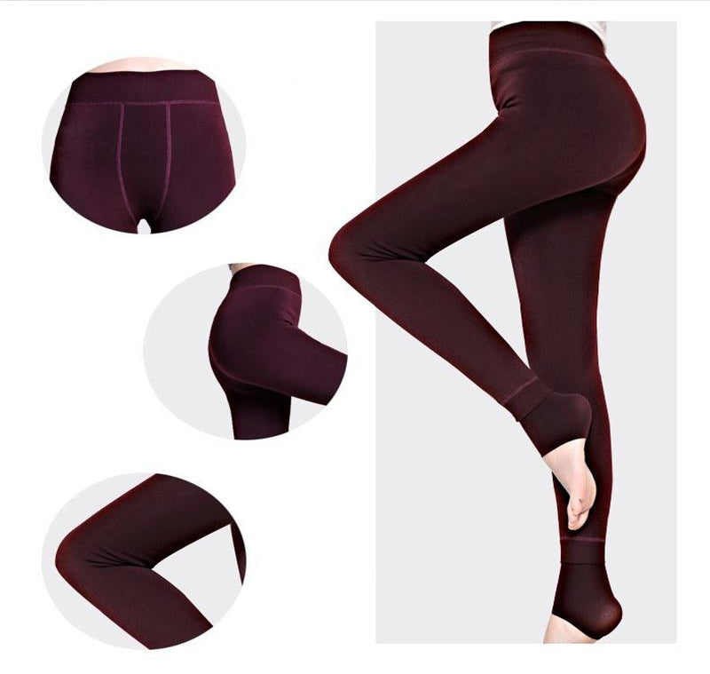 Women's Autumn Winter High Elasticity Velvet  Leggings