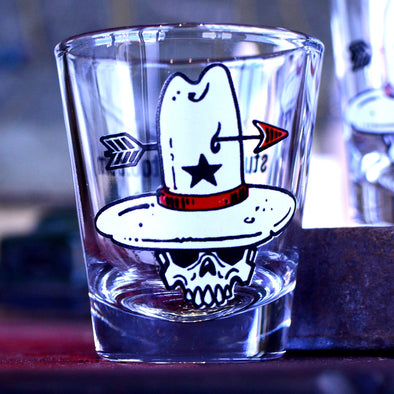 Cowboy Skull Souvenir Shot Glass