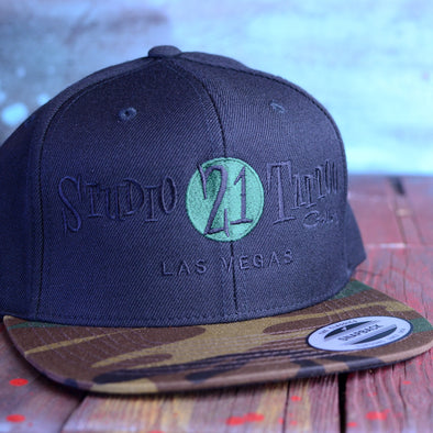 Studio 21 Tattoo Black Camo Hat