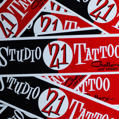 "Studio 21 Tattoo ""Old School"" Bumper Sticker"