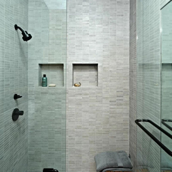 Uni-Green  16'' × 32''Double Shelves Shower Niche Tile Ready for Bathroom Storage   UGRN3216