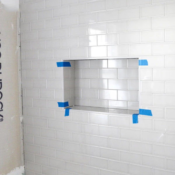 Quick & Easy Ready For Tile Recessed Shower Niche Flapped Over Thin Flange Wall Niche Insert    UGRN1628