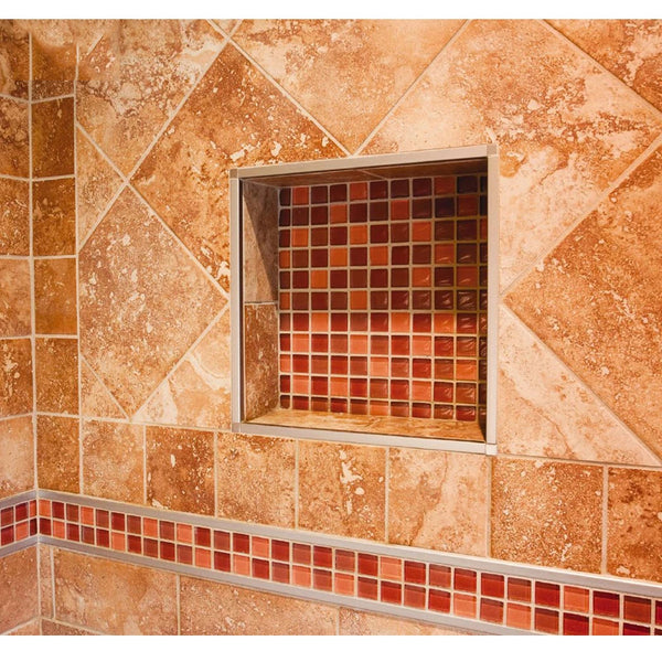 16'' × 16'' Single Square Shower Niche Ready to Tile Flapped Over Design UGSN1616