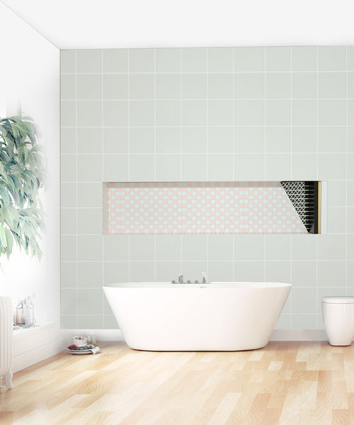 "Recessed Large Rectangle Shower Niche 14X50"" Bathroom Storage Cube with Mosaic Mesh    UGRN1450"