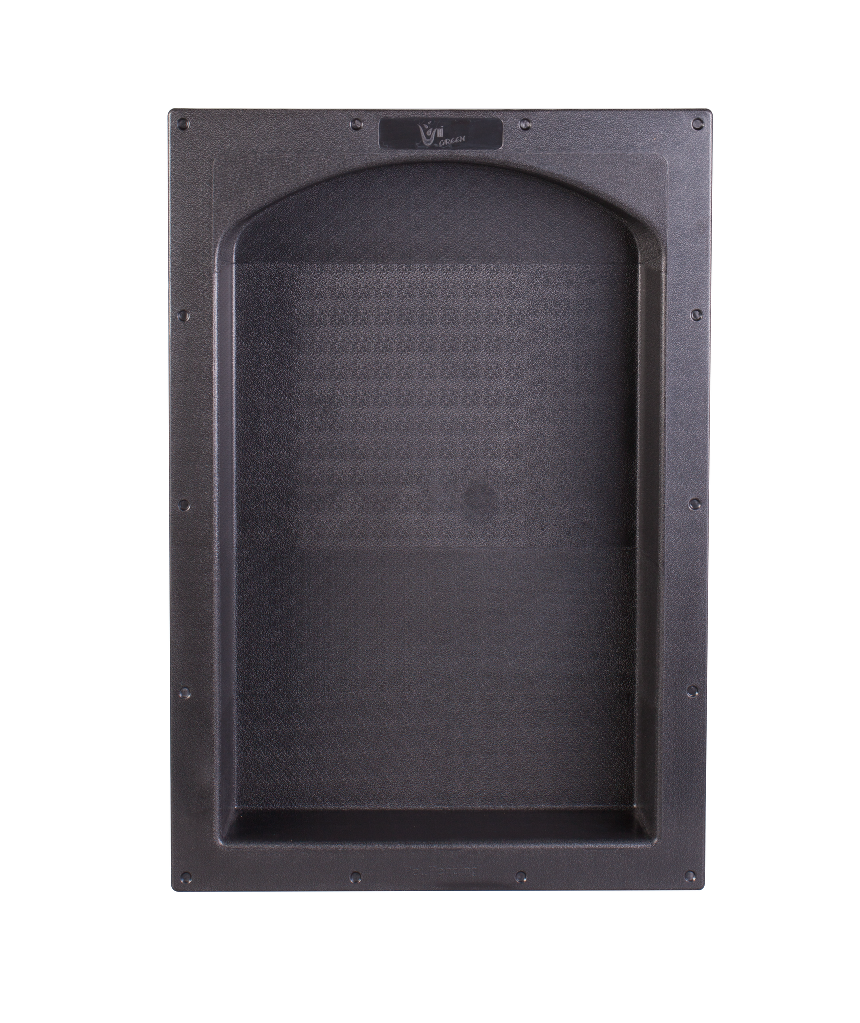 "17"" × 25""  Black Arch Top ABS Plastic Bathroom Shower Niche  Single UGARN101"