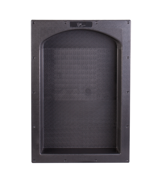 "Uni-Green   17"" × 25""  Black Arch ABS Plastic Bathroom Shower Niche  Single UGARN101"
