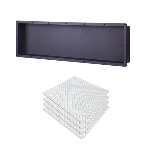 "Recessed Large Rectangle Shower Niche 14""X50"" Bathroom Storage Cube with Mosaic Mesh    UGRN1450"