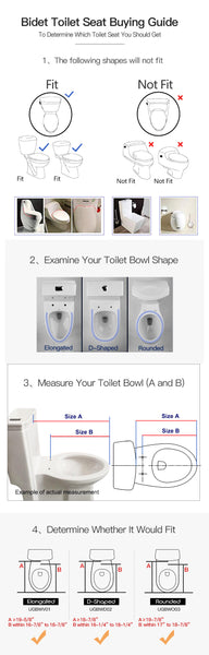 Soft close Dual Nozzles Non-Electric Bidet Toilet Seat in White | Easy Installation and Slim Design
