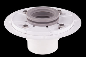 "Shower Drain Base With Rubber Gasket  for Linear Drain 2"" Outlet PVC Material"