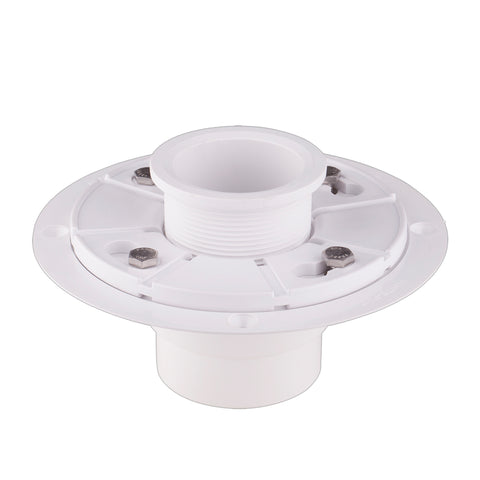 "Shower Drain Base for 2"" Outlet Linear Drain with adjustable ring  UGDB002-PVC"
