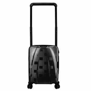 Hontus CASO QUATTRO 20 Inches Hardside Spinner Carry-On Luggage Plaid Black