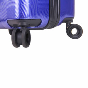 Hontus CASO QUATTRO 20 Inches Hardside Spinner Carry-On Luggage Plaid Blue
