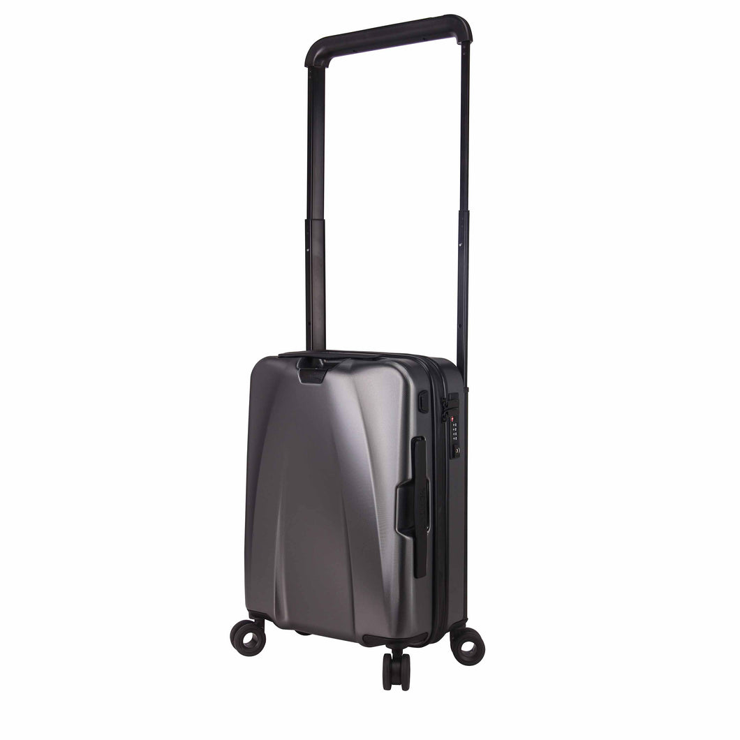 Hontus CASO UNO 20 Inches Hardside Spinner Carry-On Luggage Twill Gun Metal