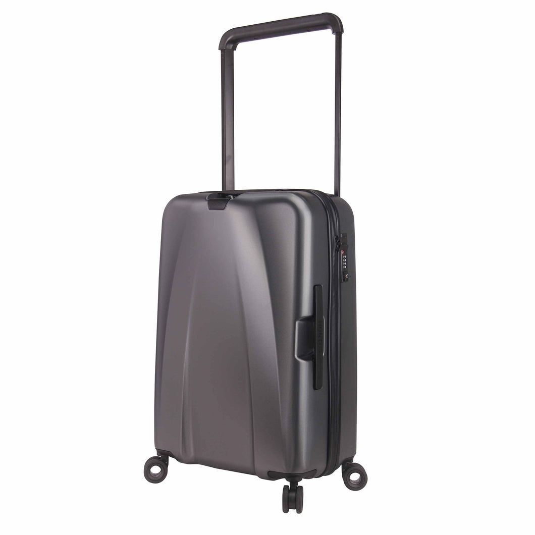 Hontus CASO UNO 24 Inches Hardside Spinner Luggage Twill Gun Metal