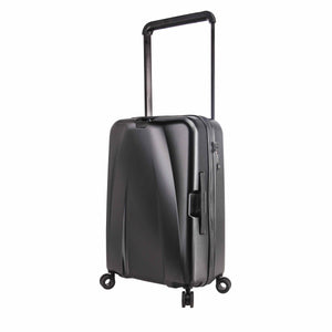 Hontus CASO UNO 24 Inches Hardside Spinner Luggage Twill Black