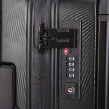Load image into Gallery viewer, Hontus CASO UNO 24 Inches Hardside Spinner Luggage Twill Black