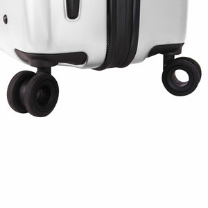 Hontus CASO UNO 24 Inches Hardside Spinner Luggage Twill White