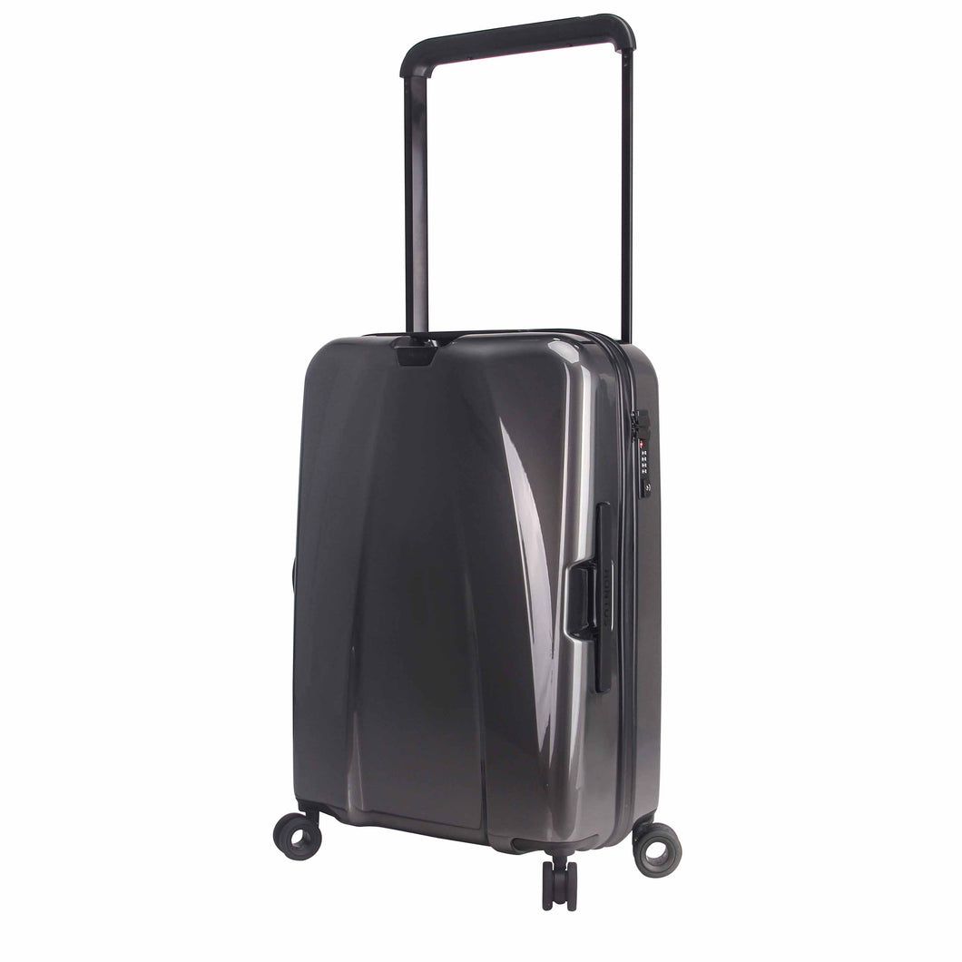 Hontus CASO DUO 24 Inches Hardside Spinner Luggage Glossy Gun Metal