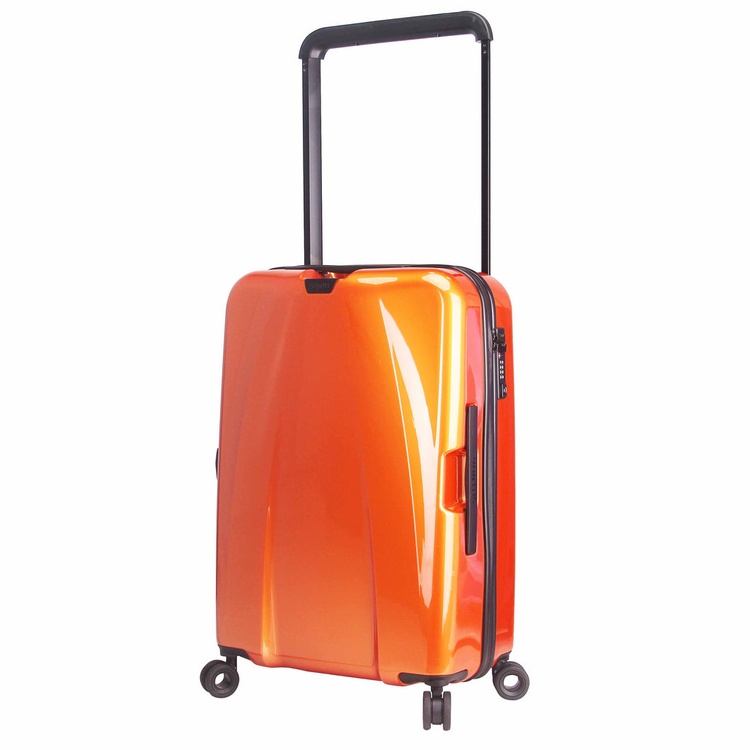 Hontus CASO DUO 24 Inches Hardside Spinner Luggage Glossy Orange
